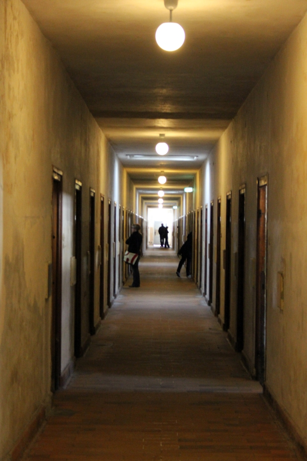 Long hallway of the prison.