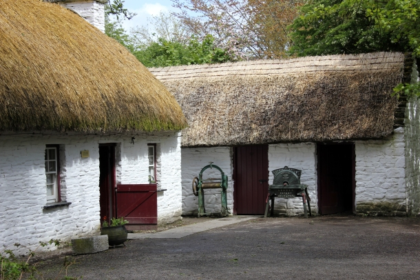 What we all ACTUALLY think of when we think of Irish architecture...cozy thatched cottages.