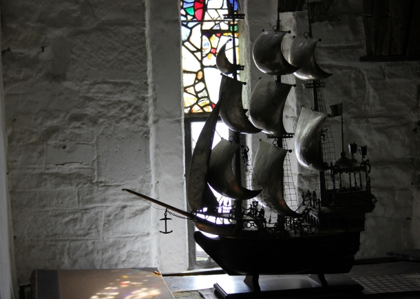 Fancy boat model somewhere in the castle. Why not?