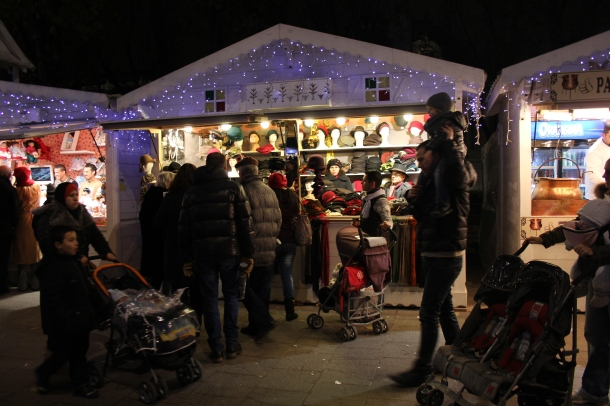 "A ""Chalet"" at the Champs Elysées Christmas market."