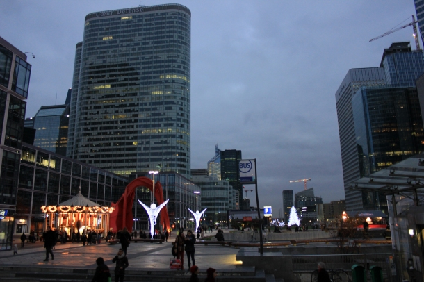 View of the big plaza at La Défense right outside the metro stop-nice and modern for a change!