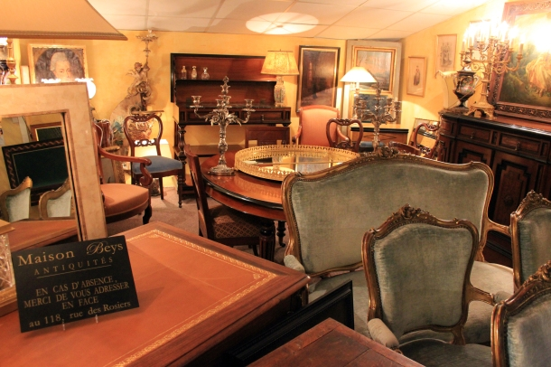 Antique furniture as far as the eye can see, in every store the eye can see...