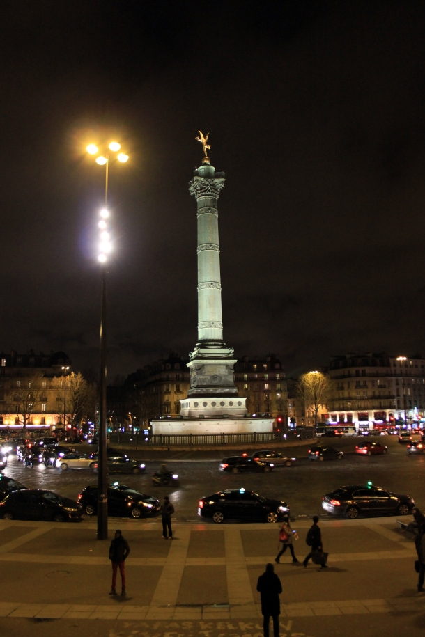 The big monument in Bastille's roundabout. Whabam, icon.