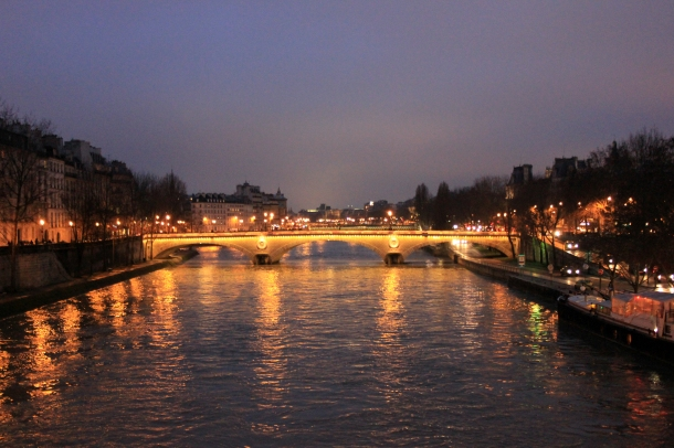Ze Seine at night. Evening. Whatever.