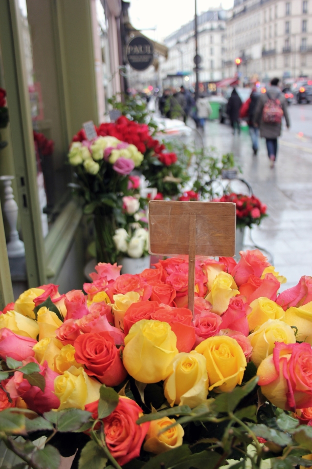 A few flowers being sold in Le Marais.