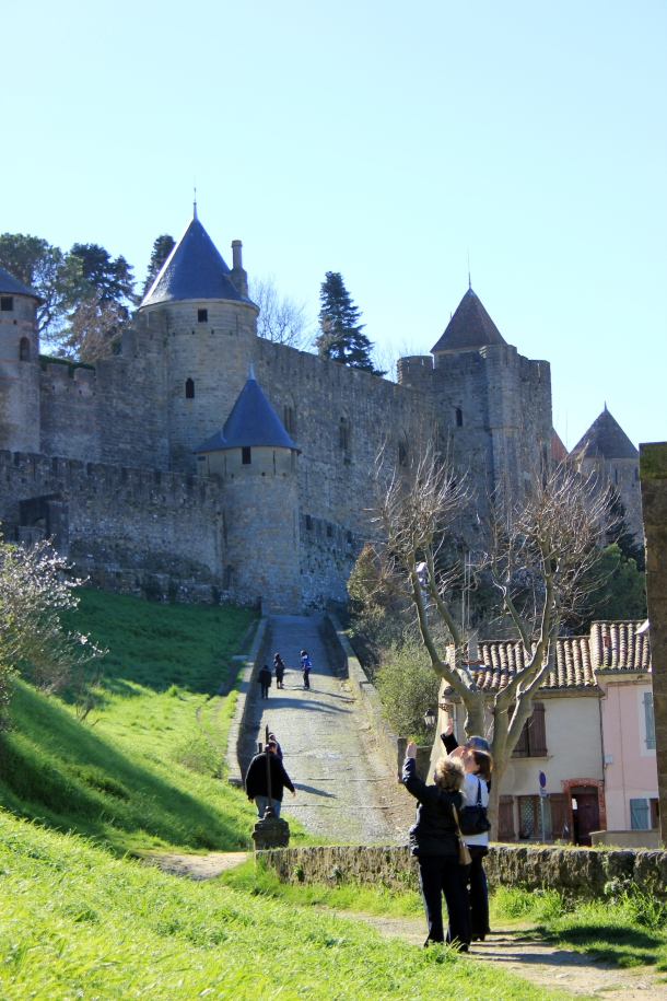 One of the main pathways for pedestrians to get up to the castle.