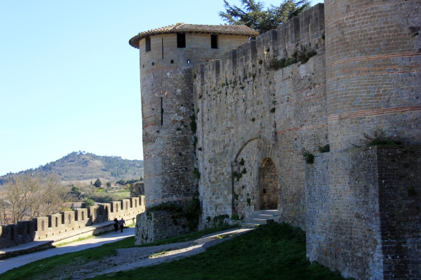 Examples of the Roman towers that once stood here--very spot-on restorations.