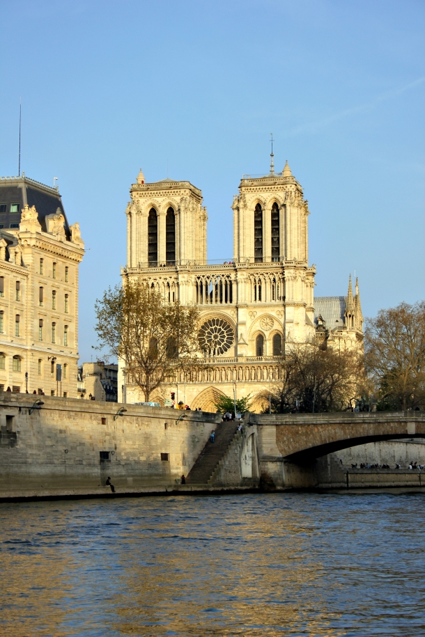 River-level shot of Notre Dame during a recent walk I took during some of my breather time.