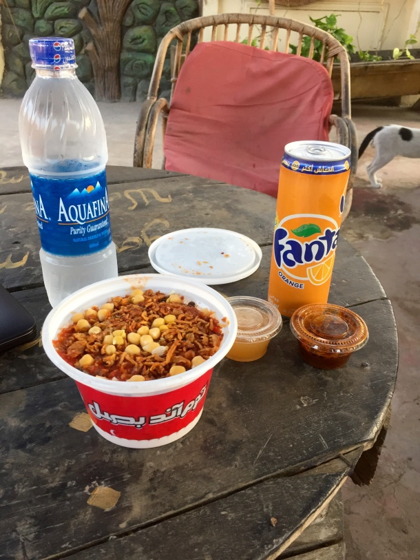 Kushari. And Fanta. Because you're not doing the sandbox life right if you don't have Fanta.