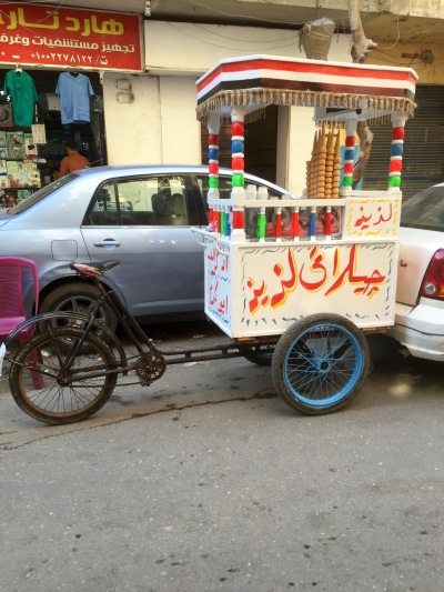 Ice-cream truck in Cairo! I love it.